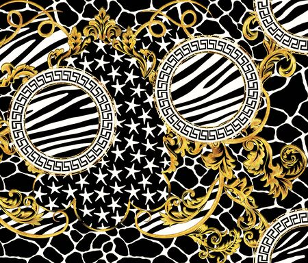 Zebra Giraffe Skin and Stars Design Stockfoto - 132292779