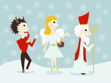 nicholas: Saint Nicholas, angel and devil