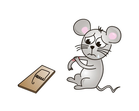 mouse trap: Hurt mouse