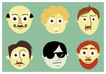 glases: Men faces