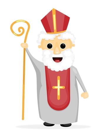 'saint nicholas': Saint Nicholas Illustration