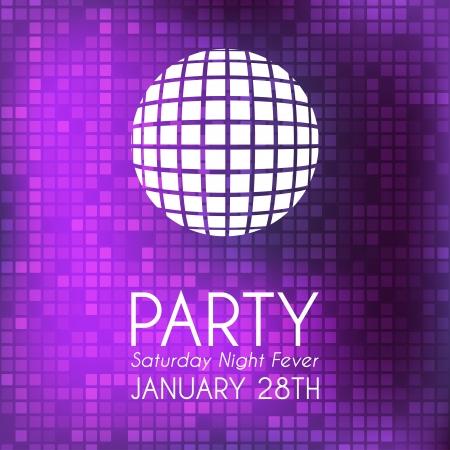 disco ball: Party invitation