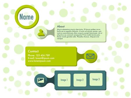 Website template in flat design Stock Vector - 23902433
