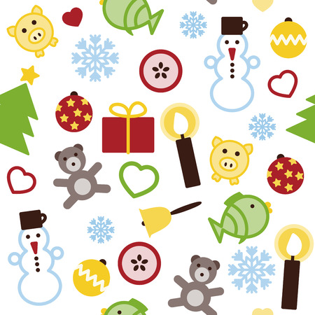 Vector Christmas seamless colorful pattern Vector