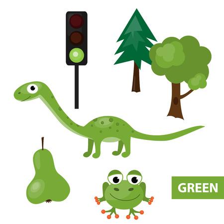 dinosaurus: Learning colors – green