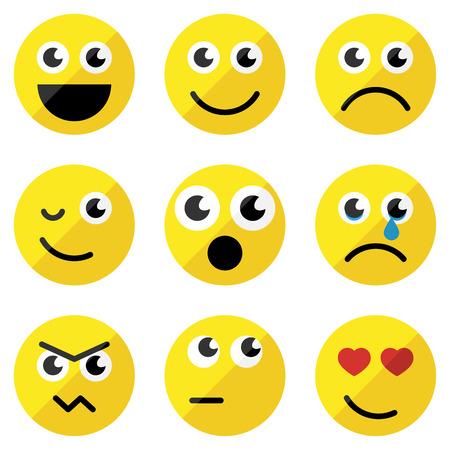 cara triste: Conjunto de emoticonos básicos