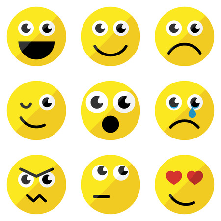 emoticons: Set of basic emoticons Illustration