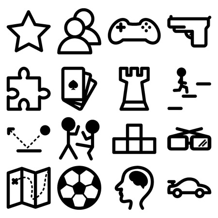 Icons for computer and games Vector