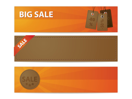 Leather sale banners Vector
