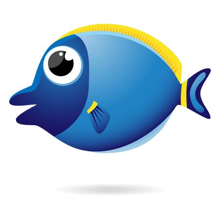 Unicorn fish: Cartoon unicornfish