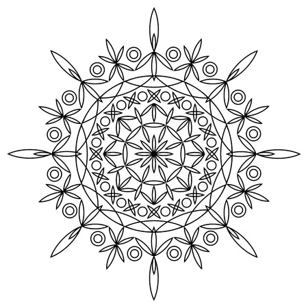 wit: Coloring book wit mandala