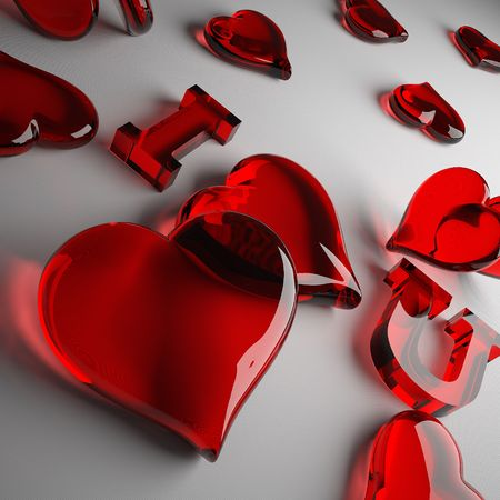 This 3D image of a loving heart. Great gift for the holiday.