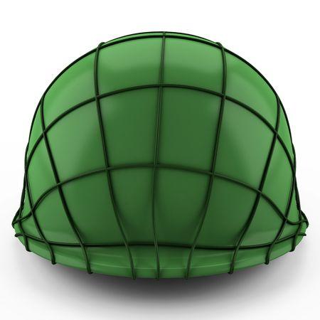 This 3D image USA army Helmet Second World War