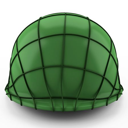 This 3D image USA army Helmet Second World War