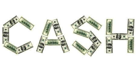 This 3D image word of cash from dollar Stock Photo - 6790299