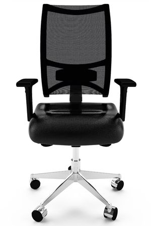 3d office armchair leather black Stock Photo - 7151754