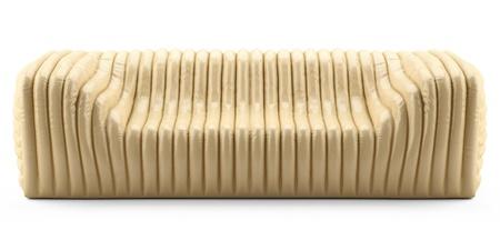 wave yellow sofa leather glossy Stock Photo - 12672504