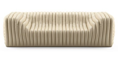 wave cream sofa leather Stock Photo - 12672460