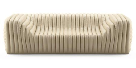 wave cream sofa leather