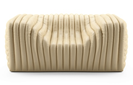 wave cream armchair leather Stock Photo - 12672725