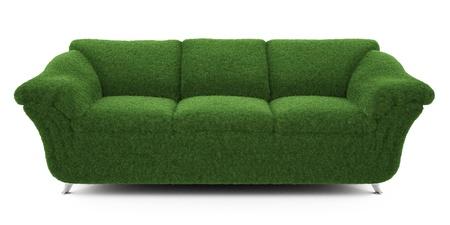objetos de la casa: sof� de la hierba