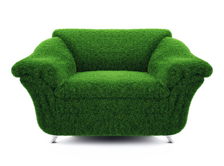 chair of the grass on a white background Stock Photo