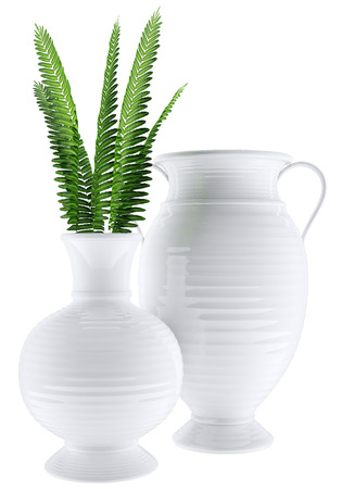 Isolated White, Vase glossy in 3d