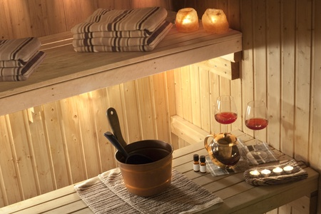 sauna: kitchen