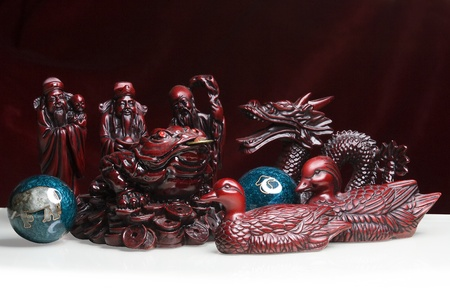 Feng Shui Statues Stock Photo - 12770342