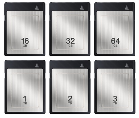 XQD memory cards Stock Photo
