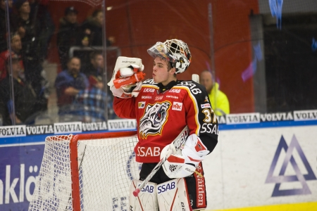Johan Gustafsson - Drafted by Minnesota Wild (NHL) 2012 Stock Photo - 13887800