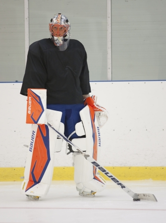islanders: Anders Nilsson - New York Islanders - Summer camp in Sweden for ice hockey goalies (2012-06-27 to 2012-06-30).