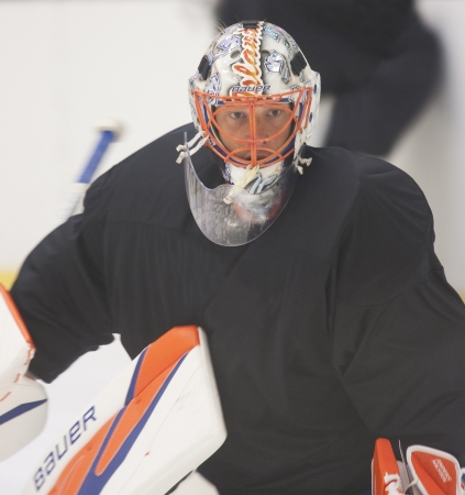 Anders Nilsson - New York Islanders - Summer camp in Sweden for ice hockey goalies (2012-06-27 to 2012-06-30).