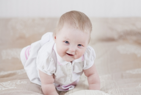 Cute baby having fun Stock Photo