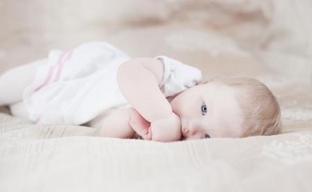 Cute baby having fun Stock Photo - 18204457