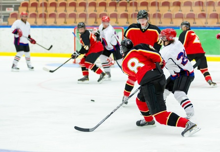 Ice Hockey Game Stock Photo