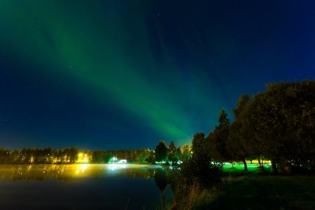 Severní polární záře Reklamní fotografie