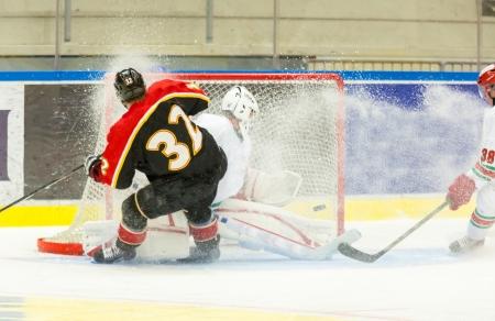 Ice Hockey Game Stock Photo