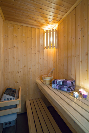 Sauna - Relax and massage Stock Photo