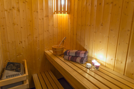 sauna: Sauna - Relax and massage Stock Photo