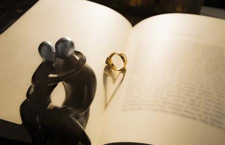parship: Marry me - Heart shadow Stock Photo