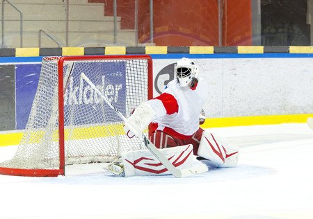 goalie: Hockey Goalie Stock Photo