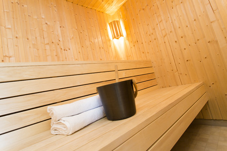finland sauna: Modern Sauna Stock Photo