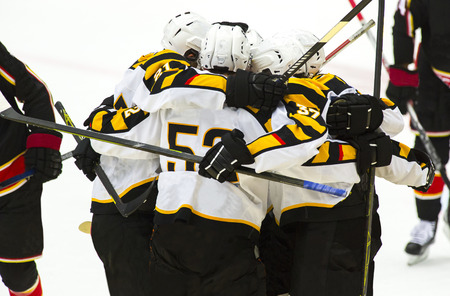 Ice Hockey Players Celebrating