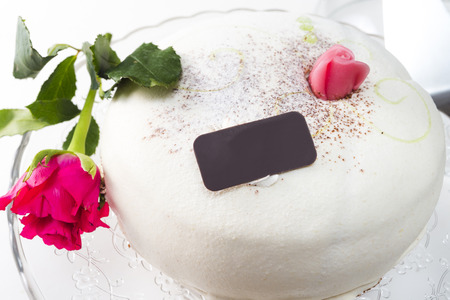 Cute wedding cake Stock Photo