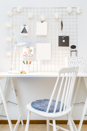 Modern workspace Stock Photo