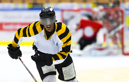 africanamerican: African-American ice hockey player