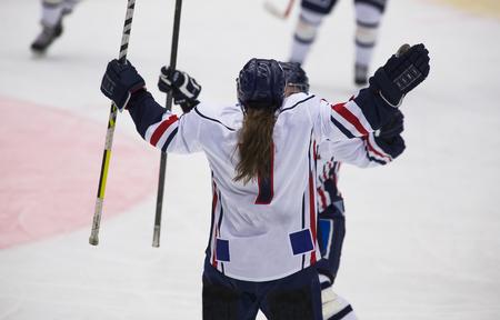 Womens Ice Hockey Stock Photo