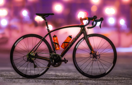 Road Bike Racer Stock Photo