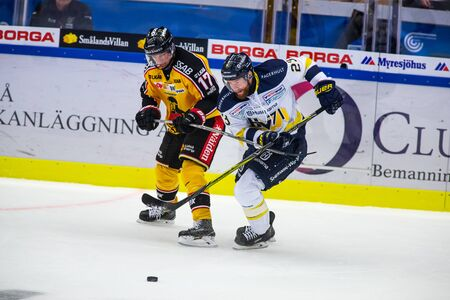 Lulea, Sweden - september 28, 2017: COOP Norrbotten Arena, Swedish Hockey League SHL, Lulea Hockey vs HV71 - EDITORIAL Stock fotó - 138205004